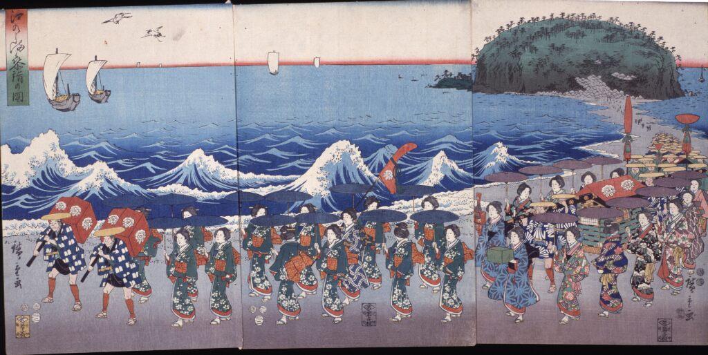 歌川広重 江のしま参詣の図