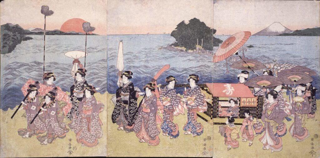 歌川国安 無題(江の島参詣)