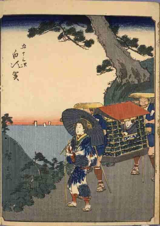 五十三次 白須賀(人物東海道)