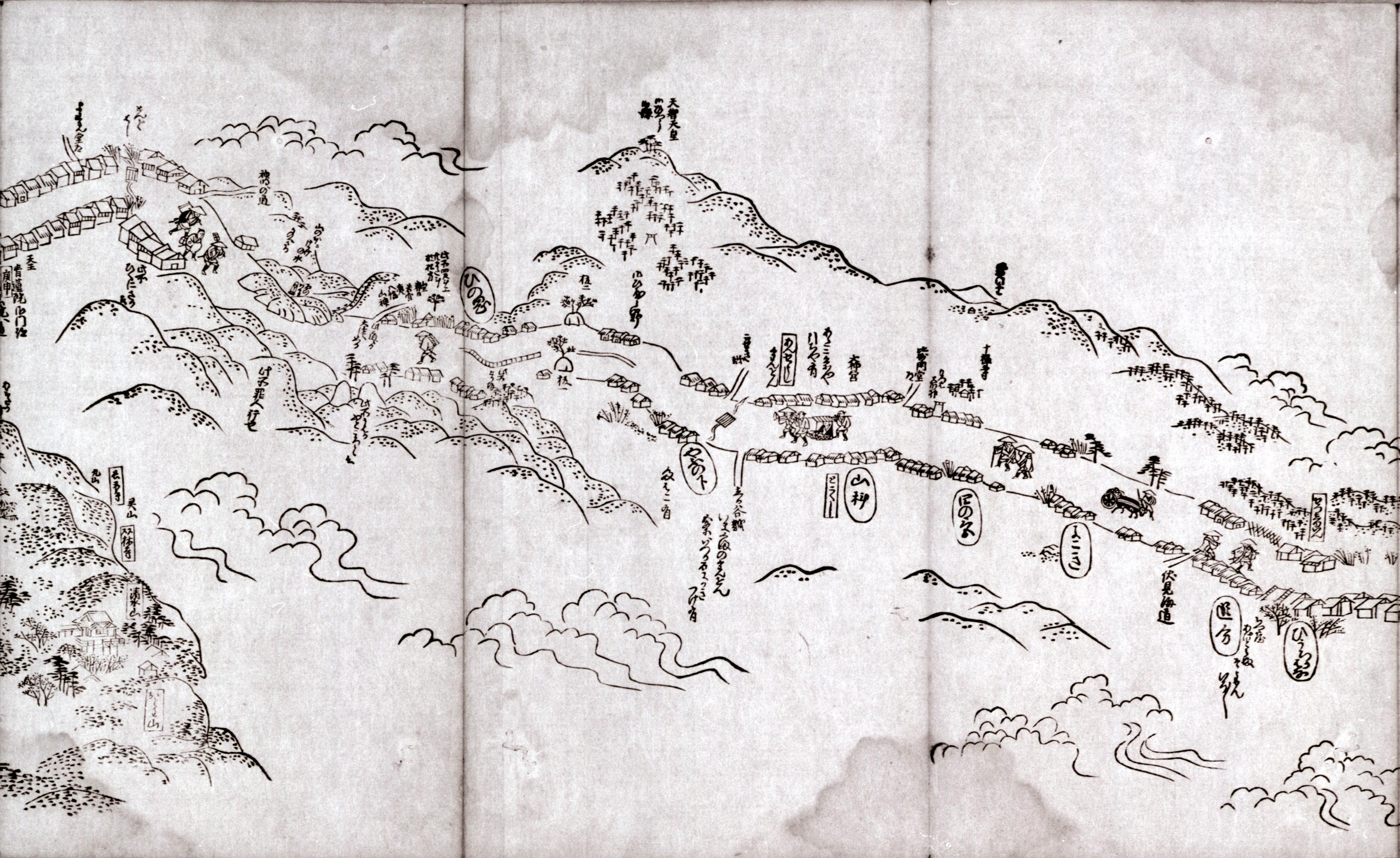 東海道分間之図 八十
