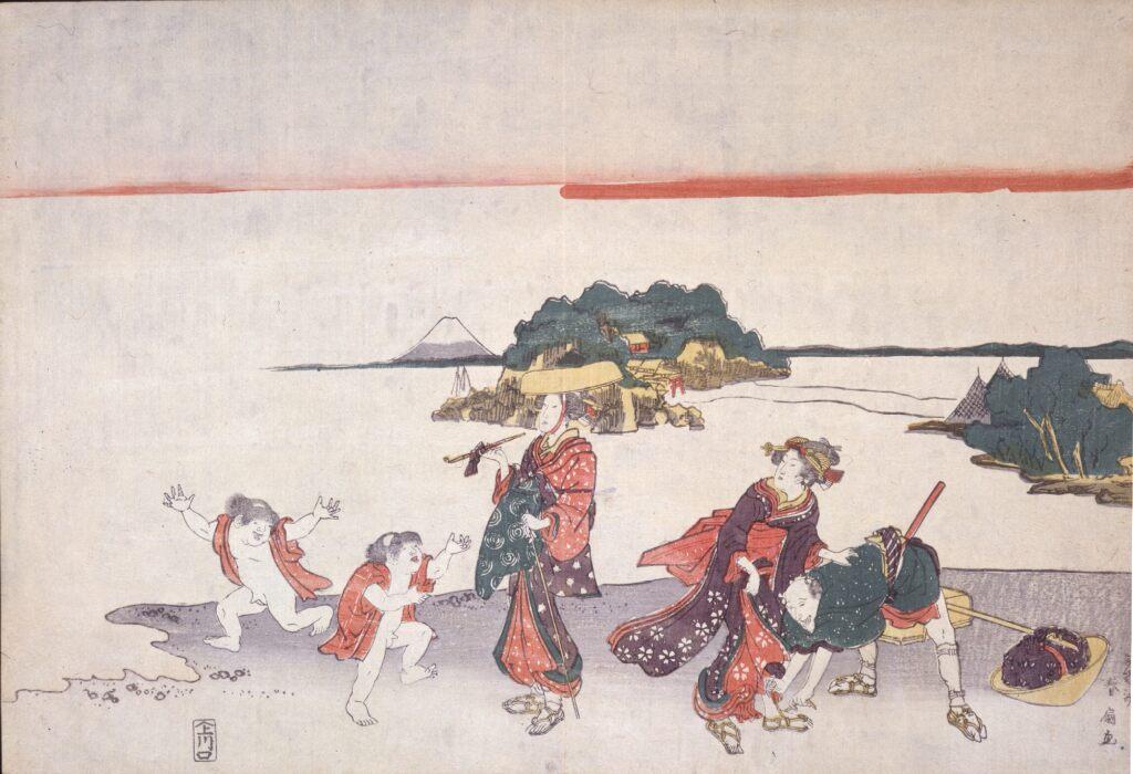 二代勝川春好 無題(江の島道中)