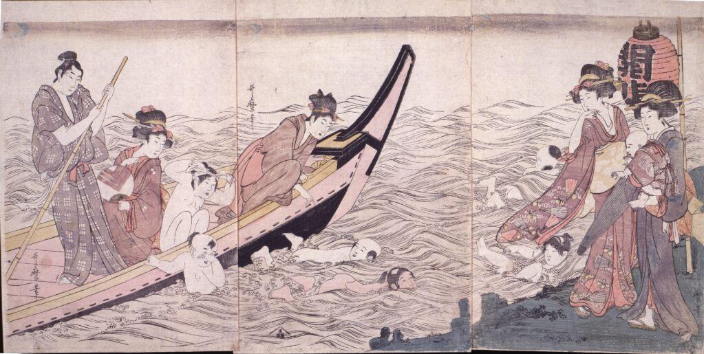 喜多川歌麿 無題(江の島弁財天開帳)