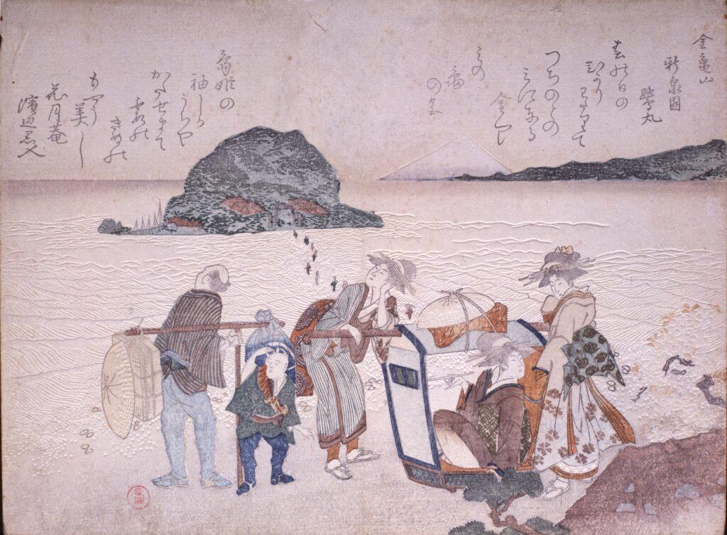 窪俊満 無題(江の島金亀山)