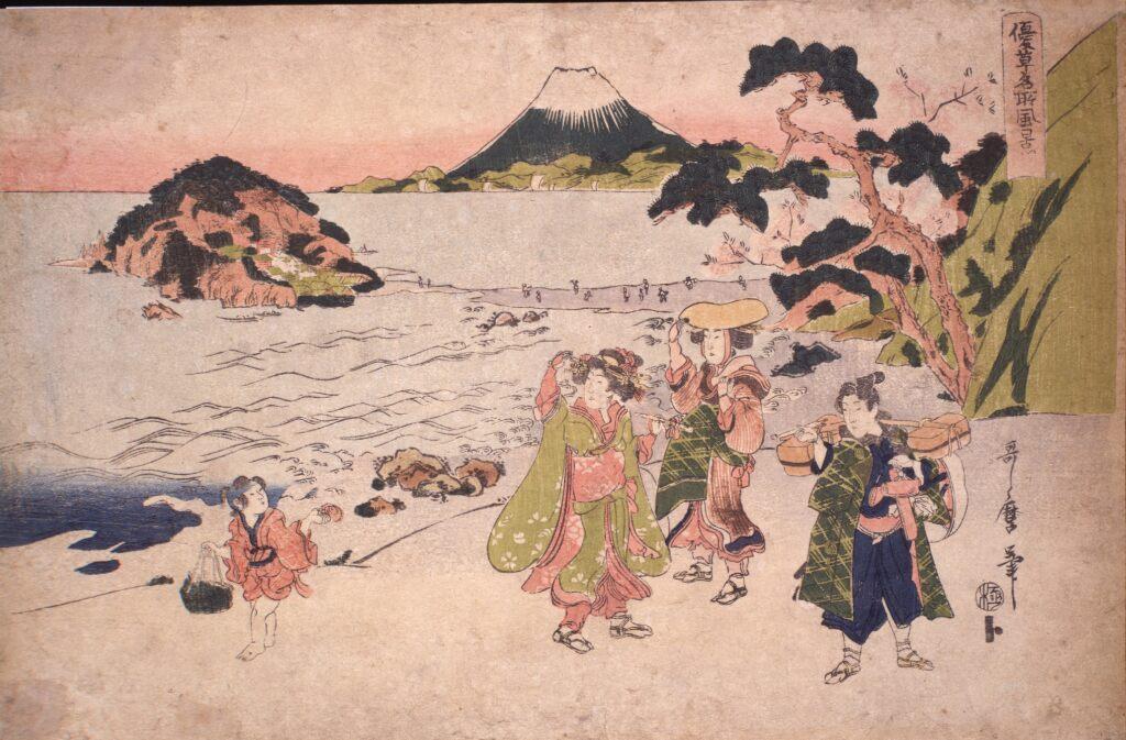 二代喜多川歌麿 優草名所風景