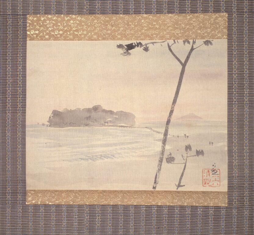 小林清親 無題(江の島風景)