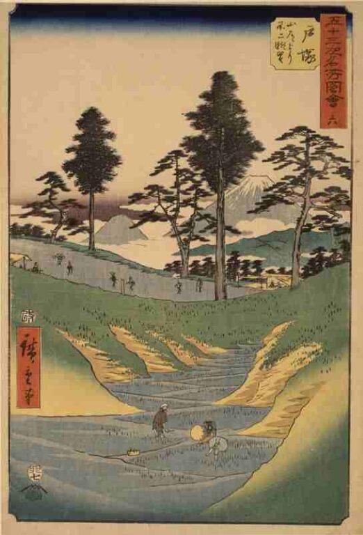 五十三次名所図会 六 戸塚(竪絵東海道)
