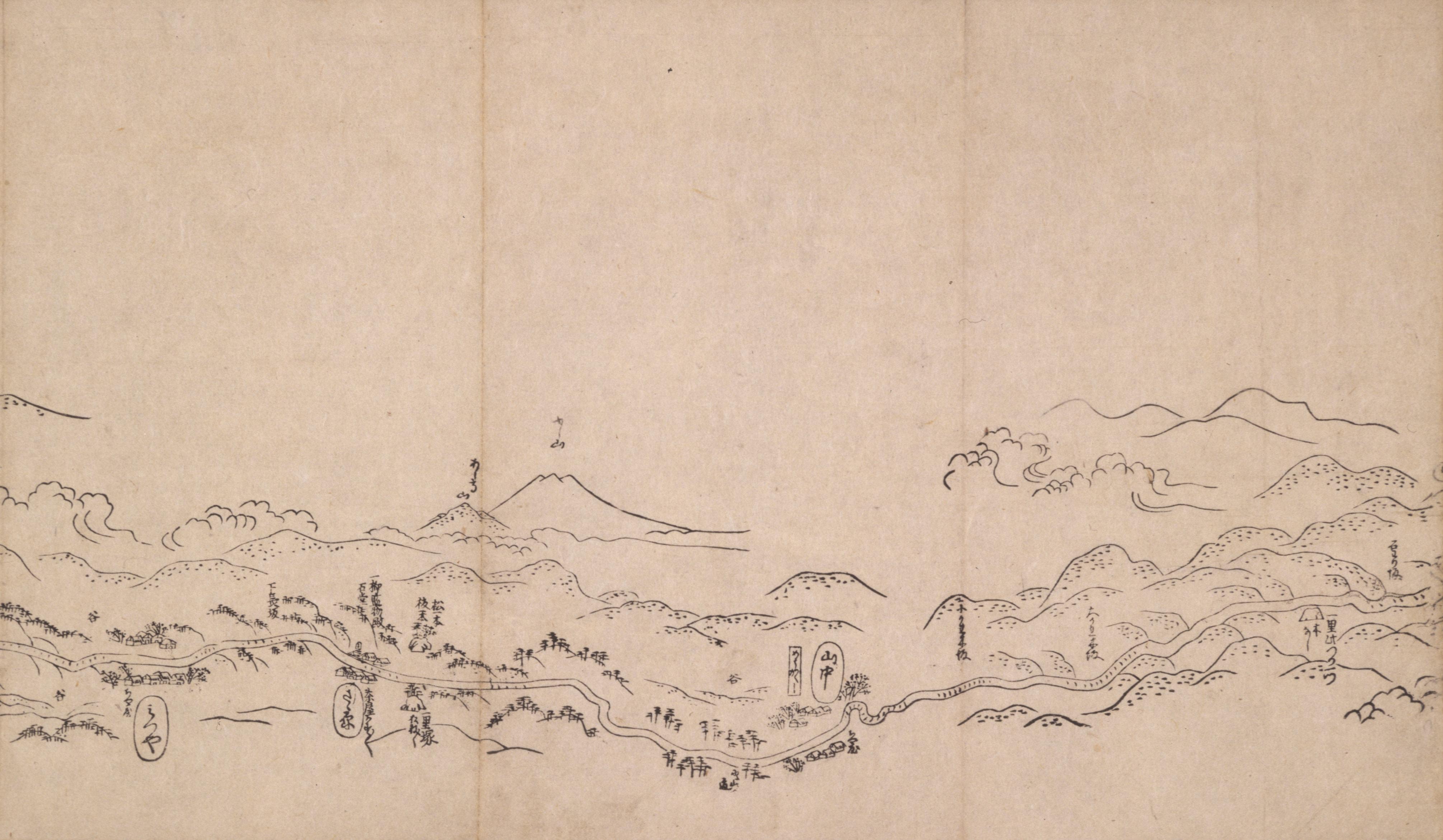東海道分間之図 十八