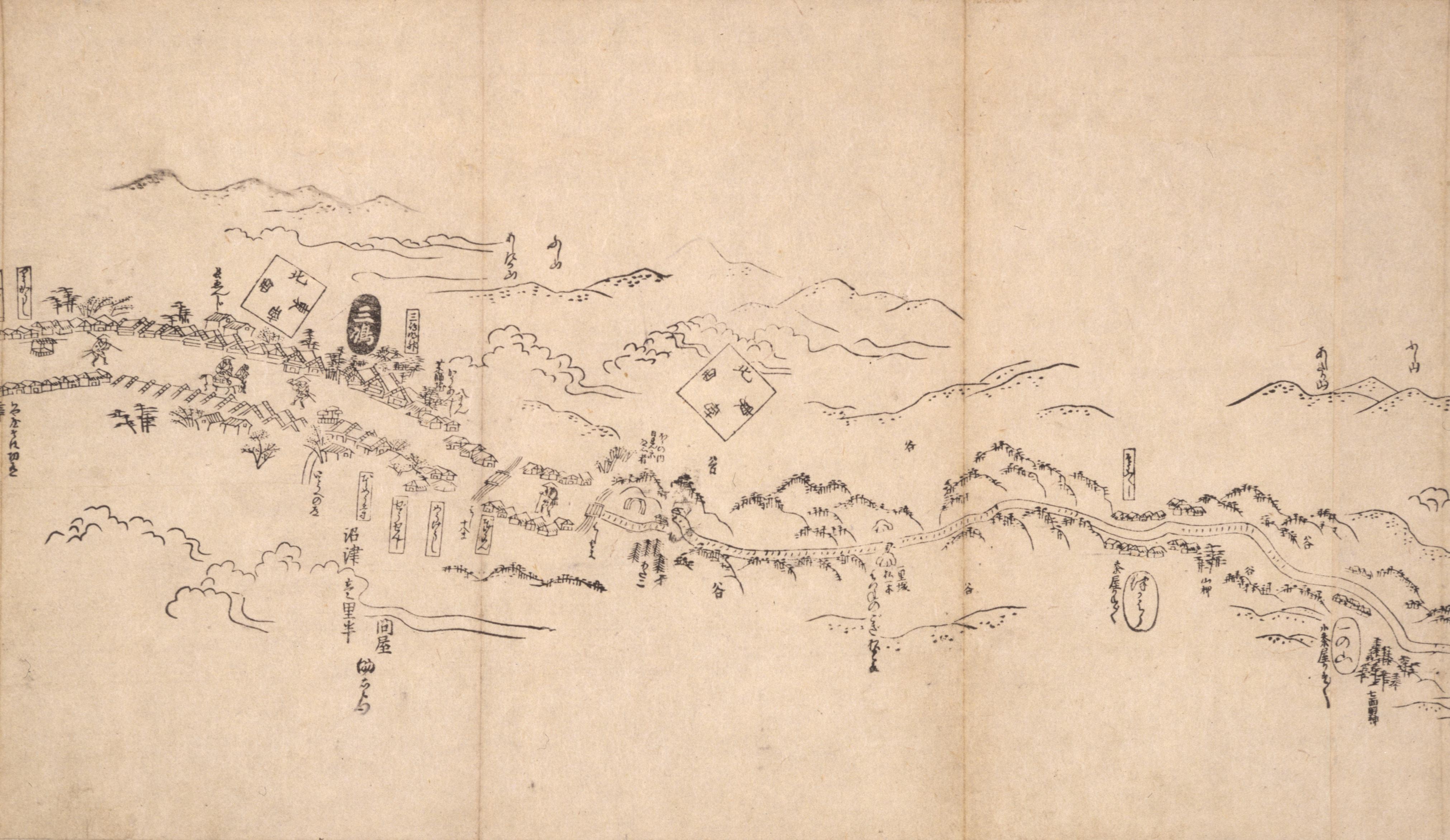 東海道分間之図 十九