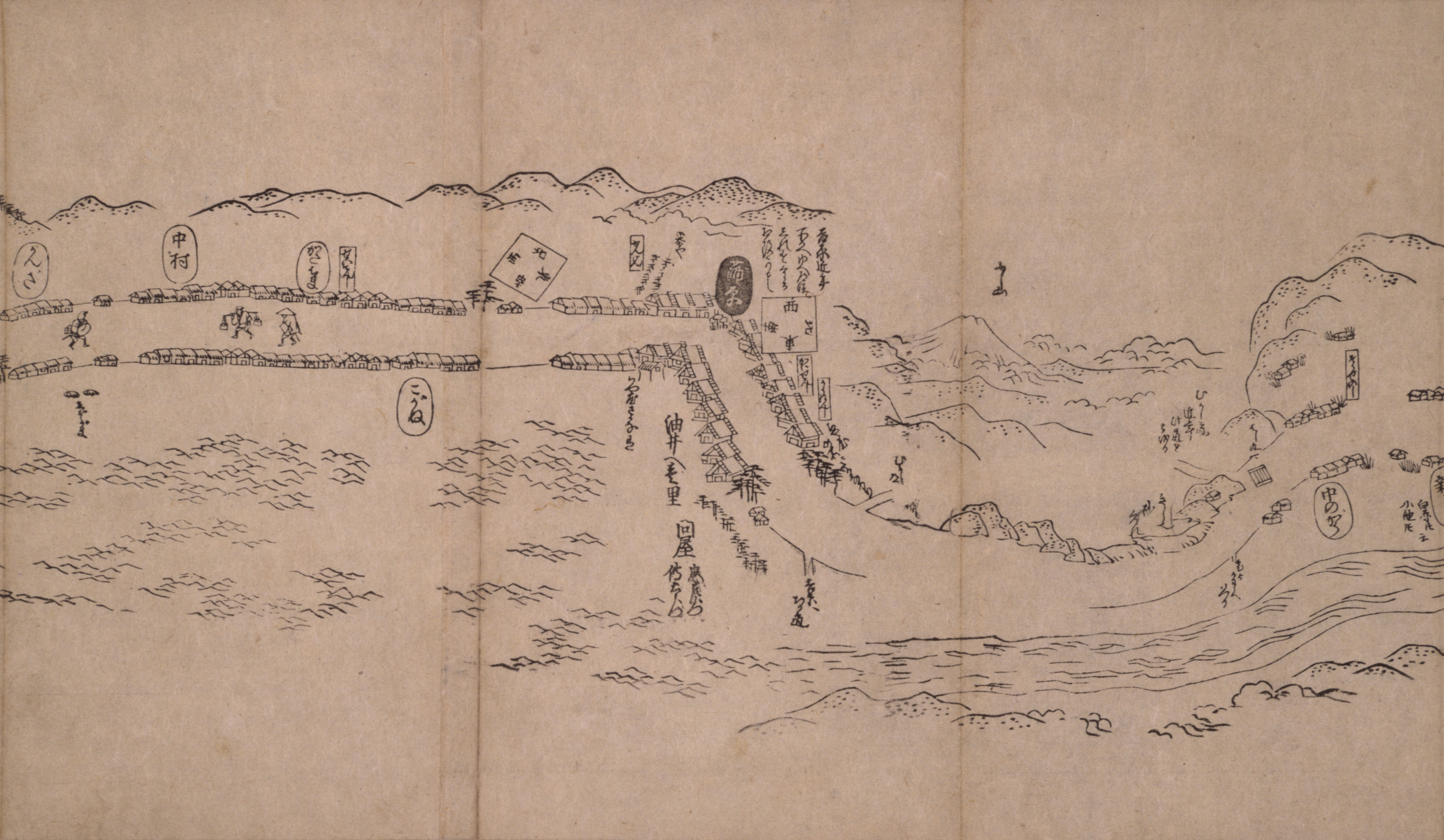 東海道分間之図 二十五