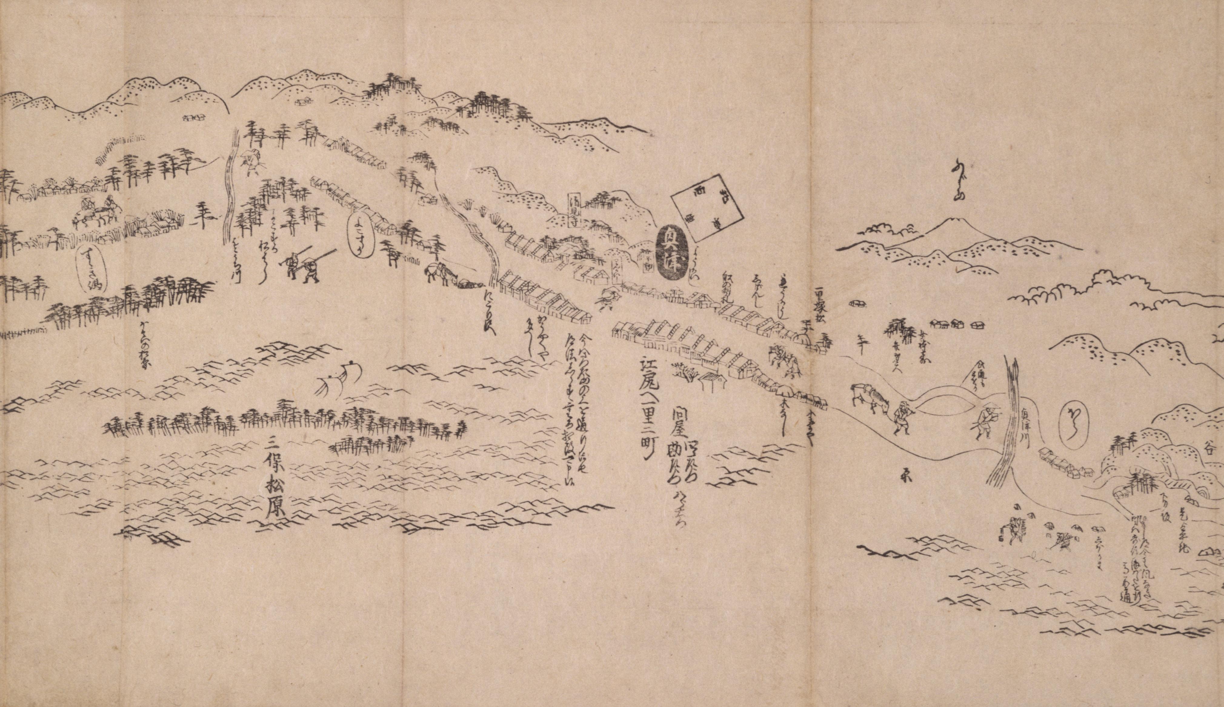 東海道分間之図 二十七