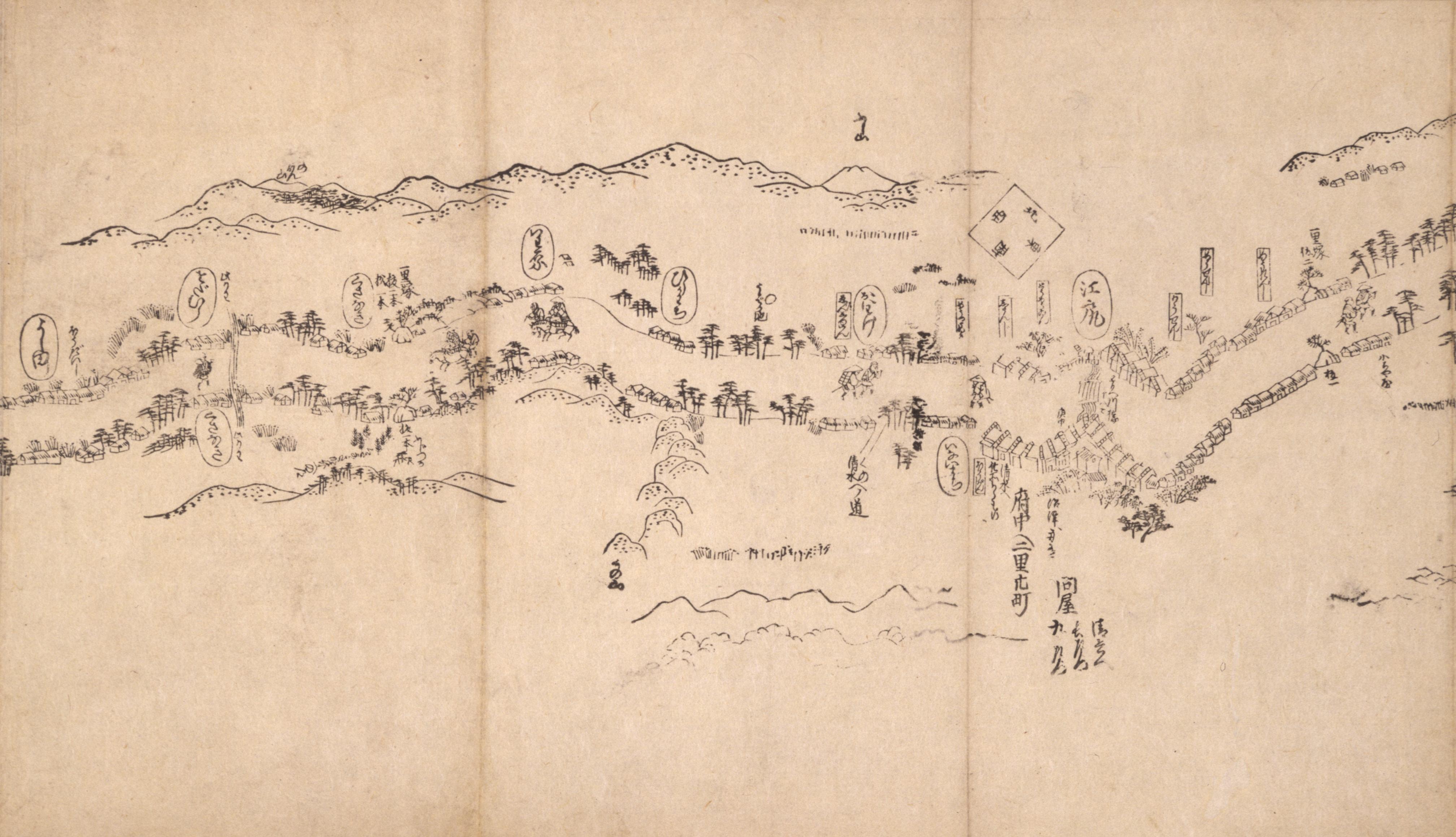 東海道分間之図 二十八
