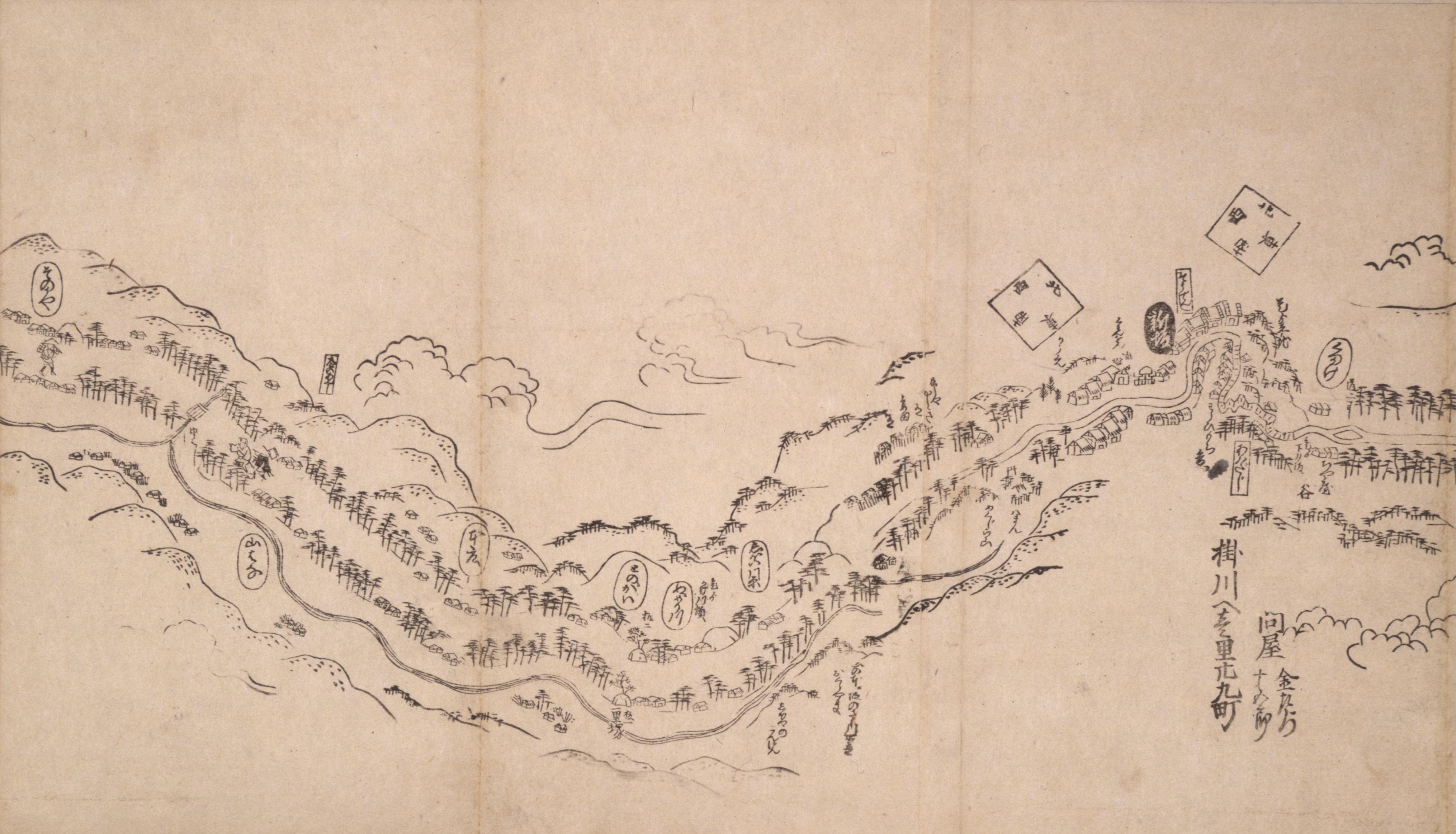 東海道分間之図 三十七