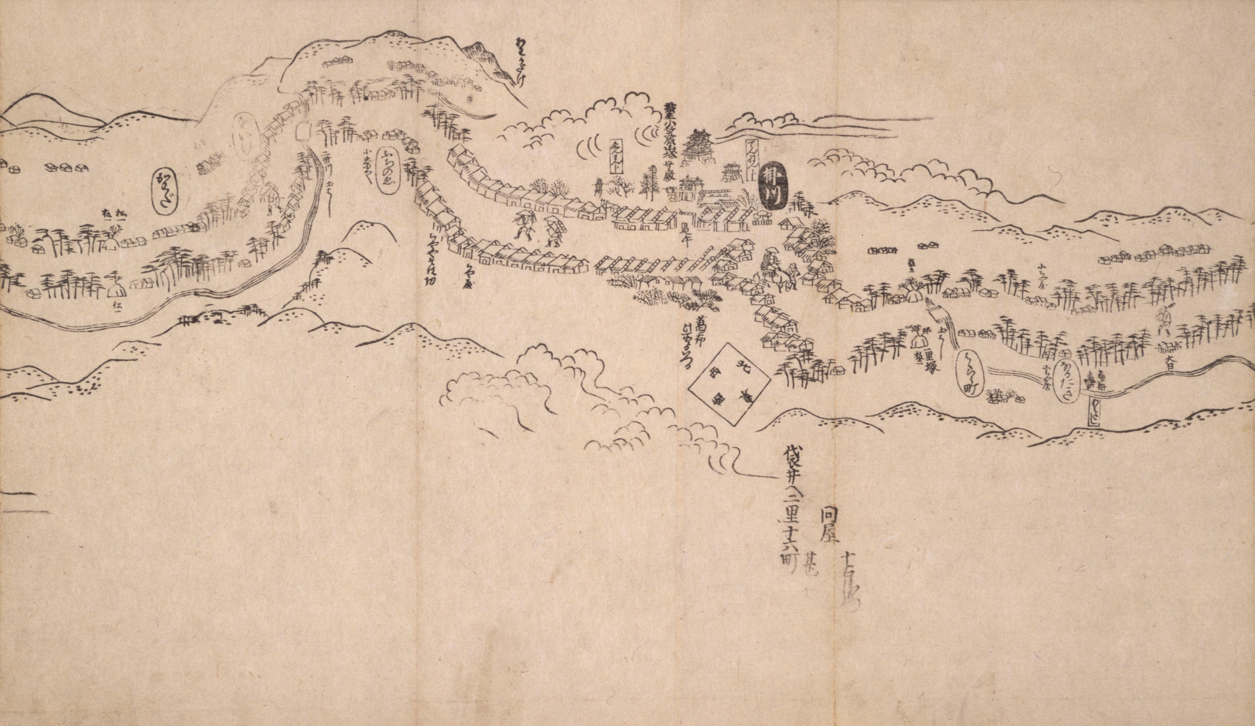 東海道分間之図 三十八