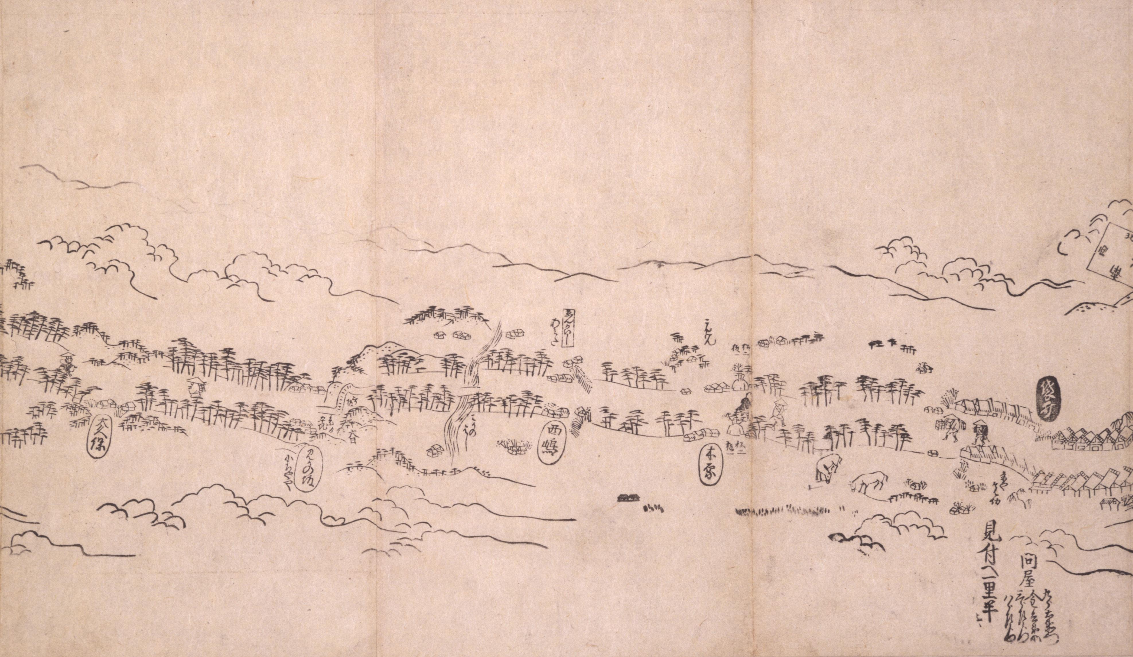 東海道分間之図 四十