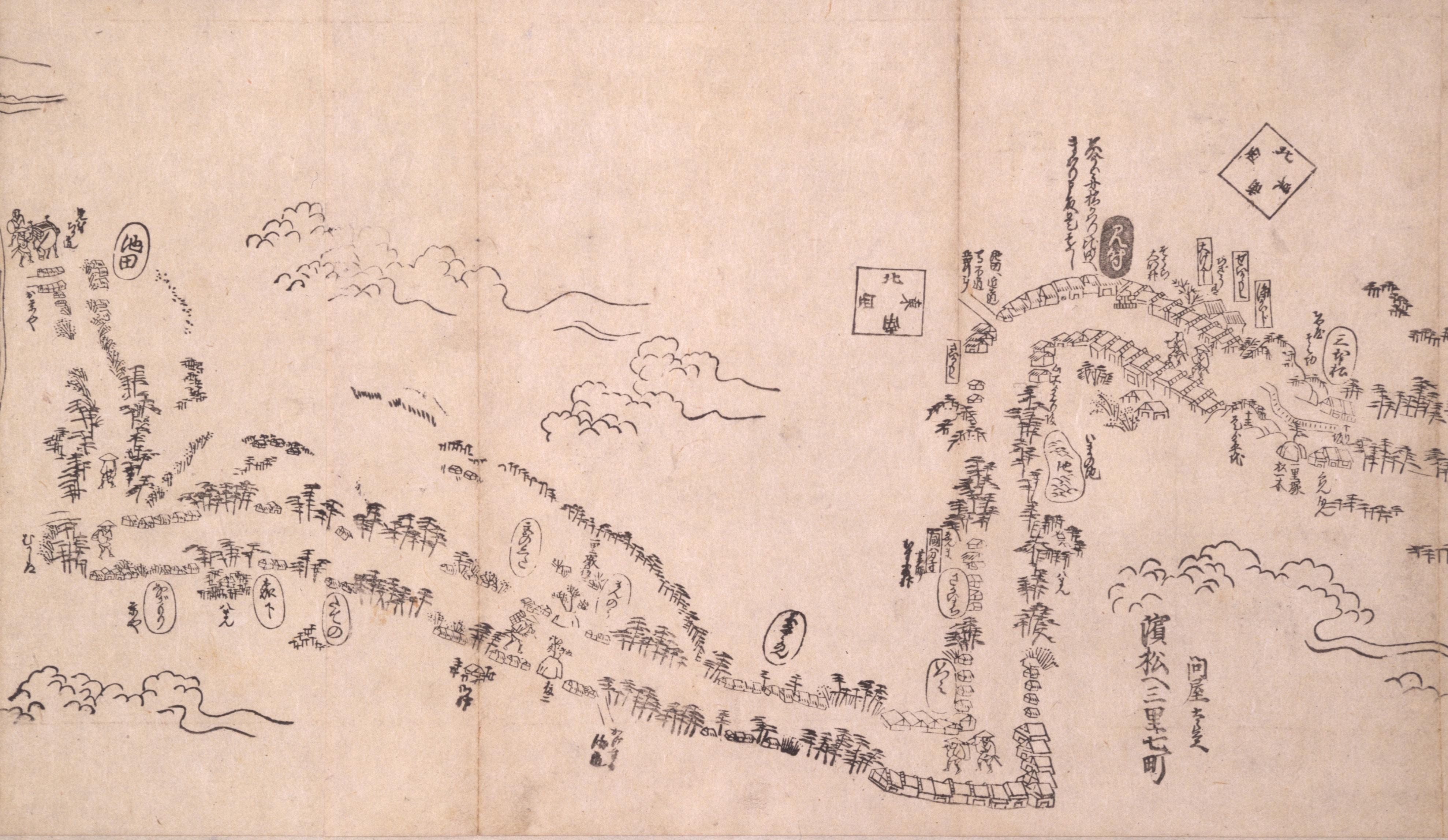 東海道分間之図 四十一