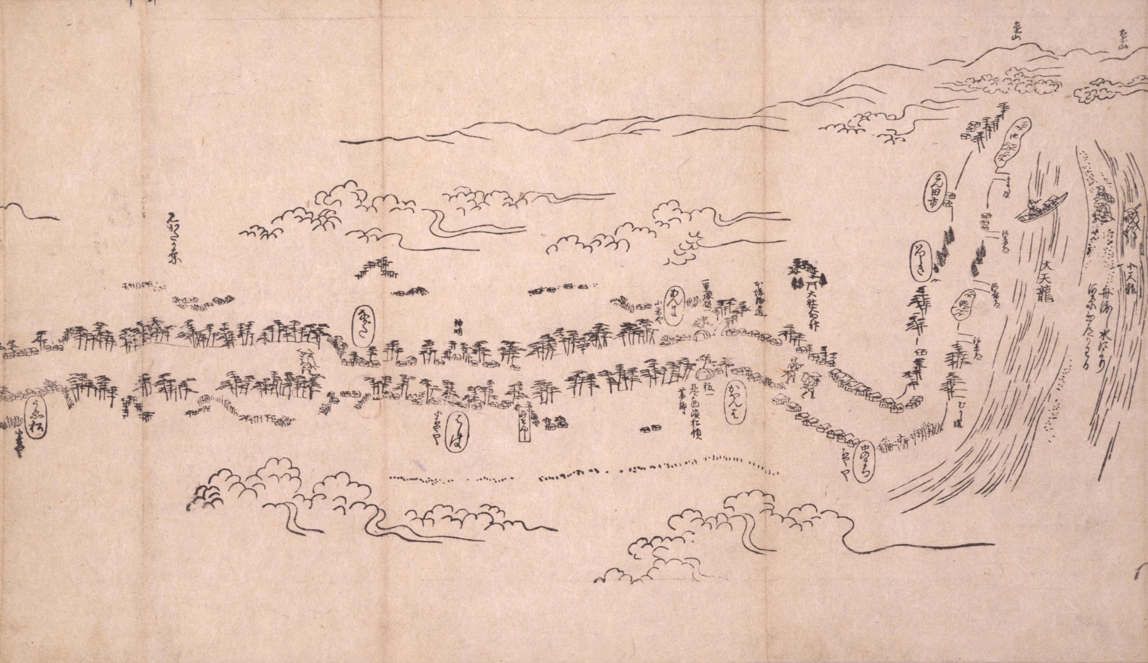 東海道分間之図 四十二