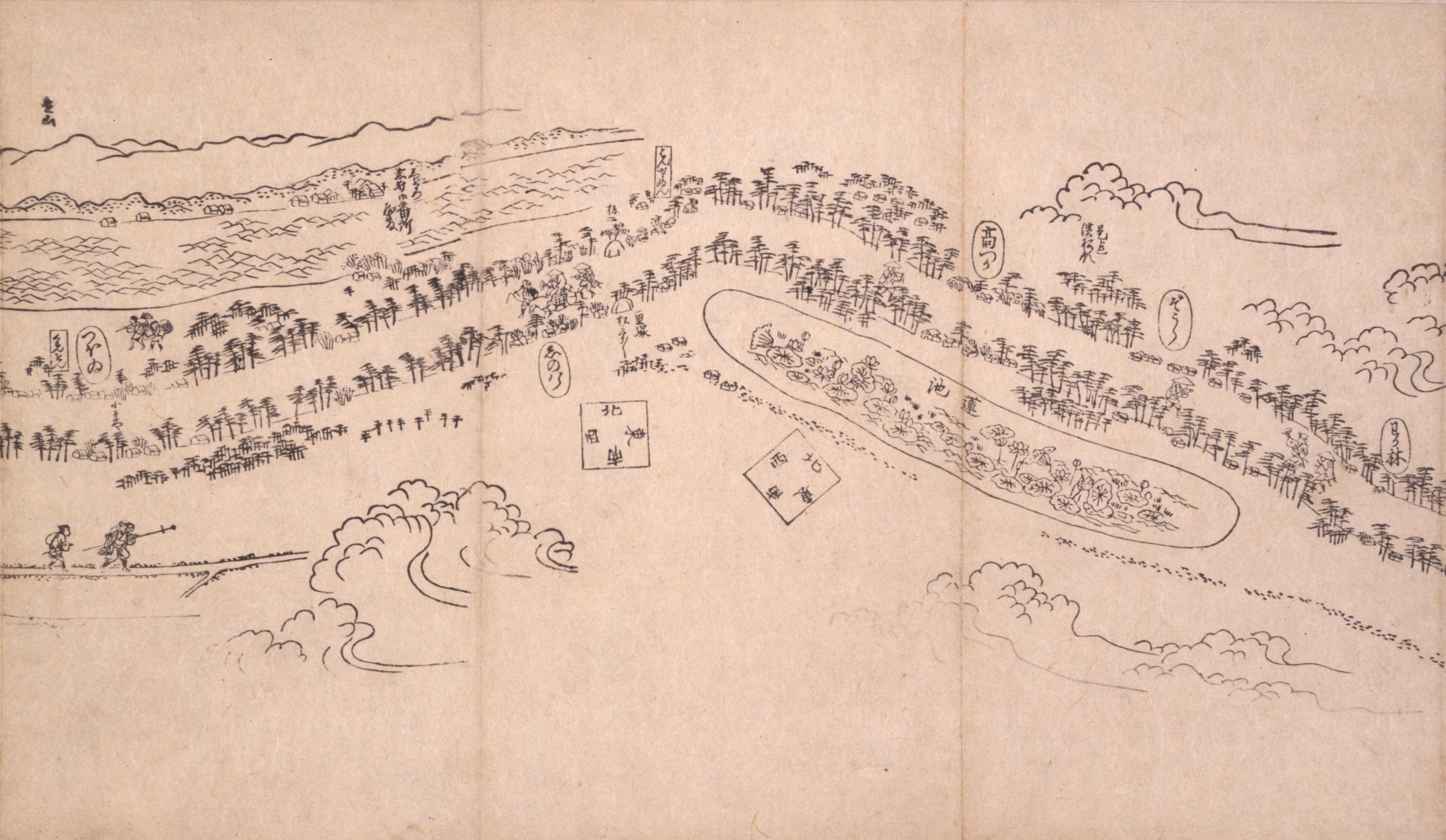 東海道分間之図 四十四