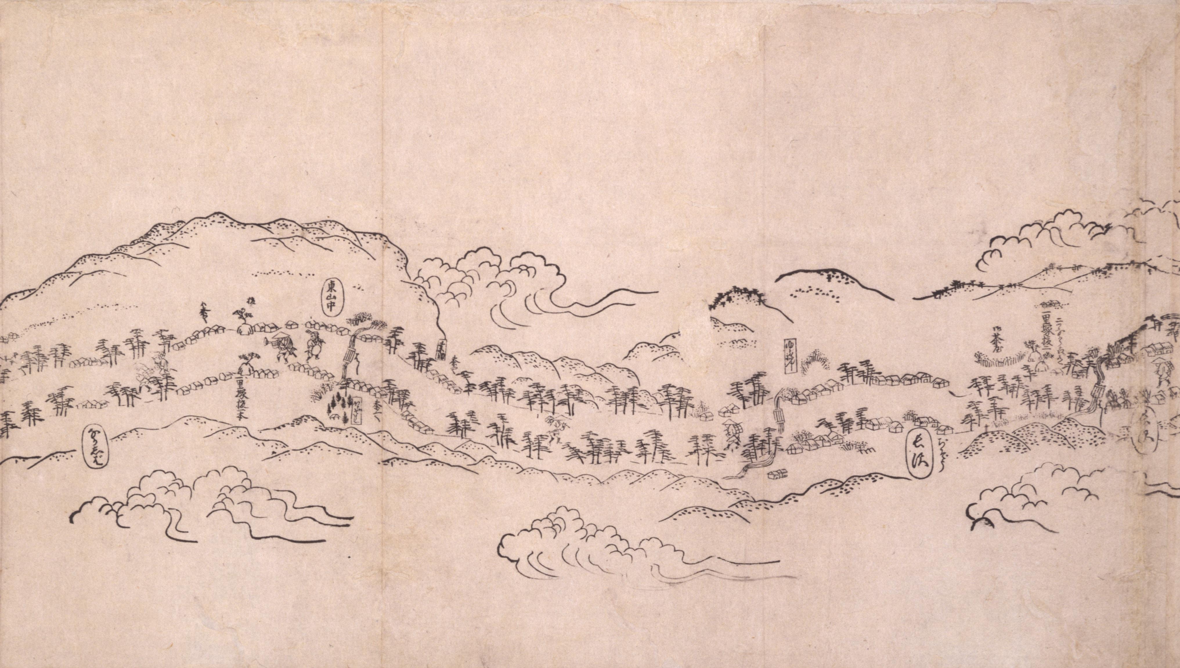 東海道分間之図 五十三