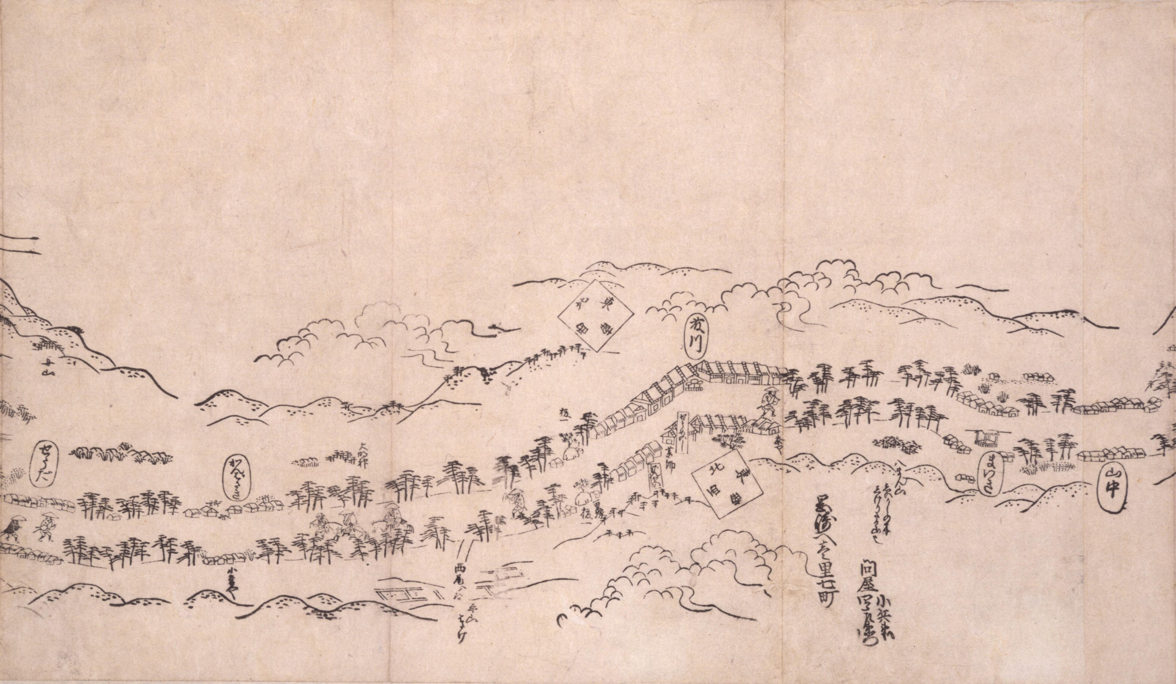 東海道分間之図 五十四