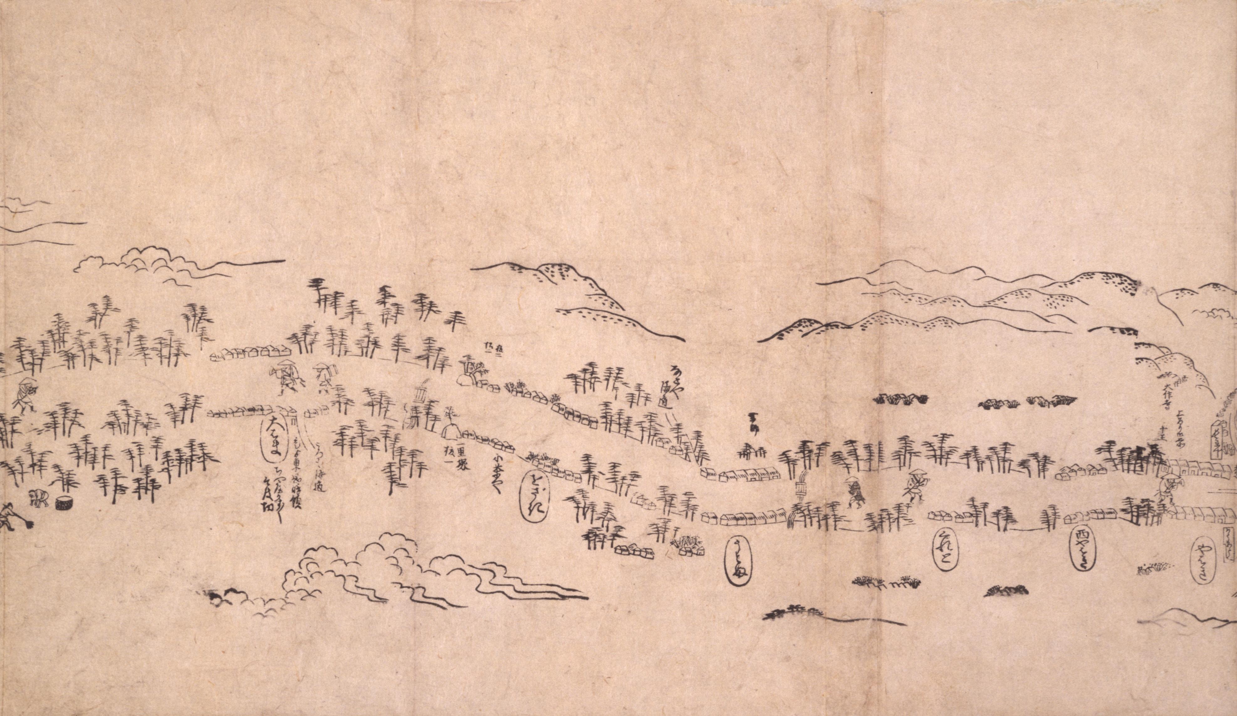 東海道分間之図 五十六
