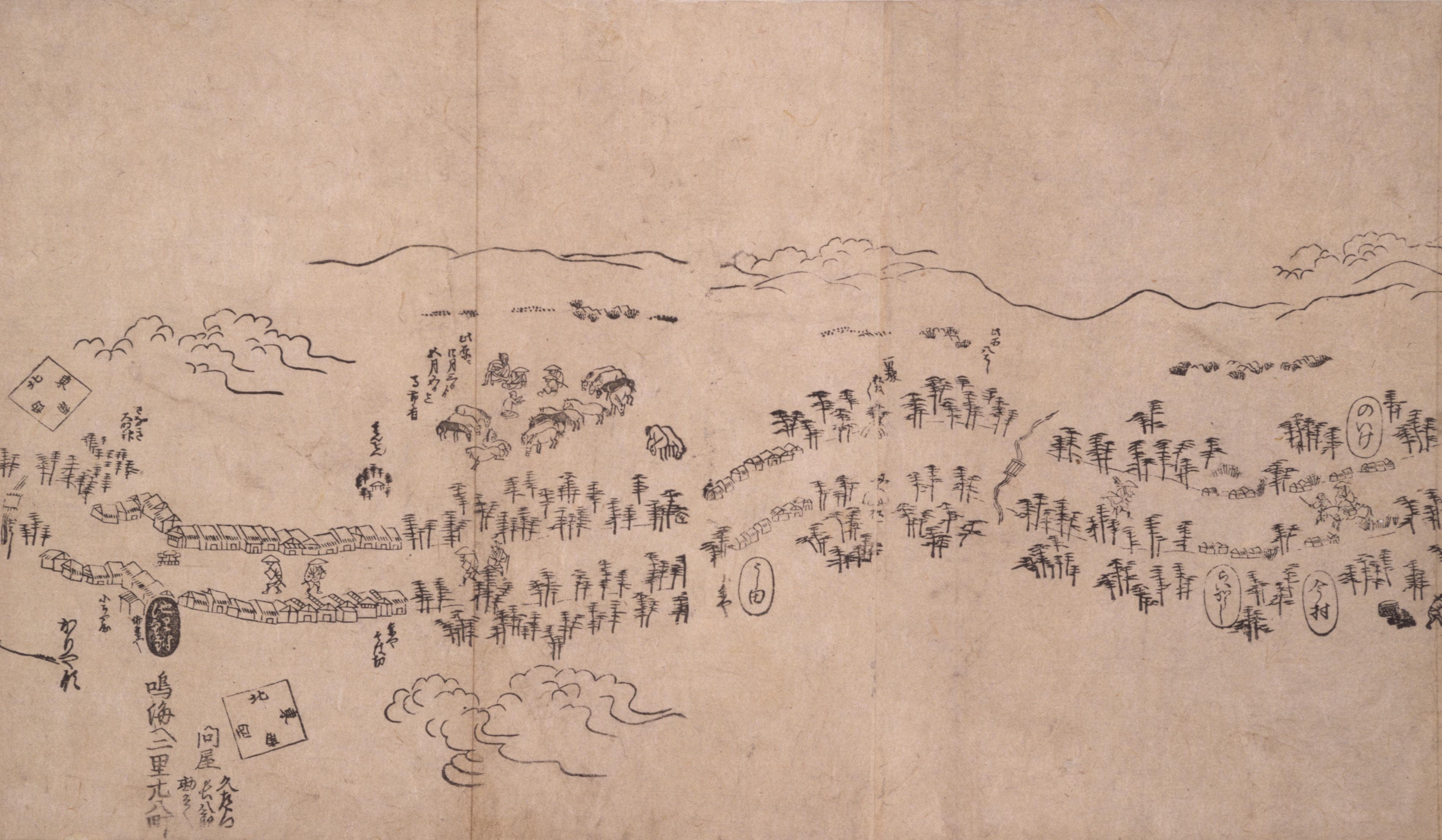 東海道分間之図 五十七