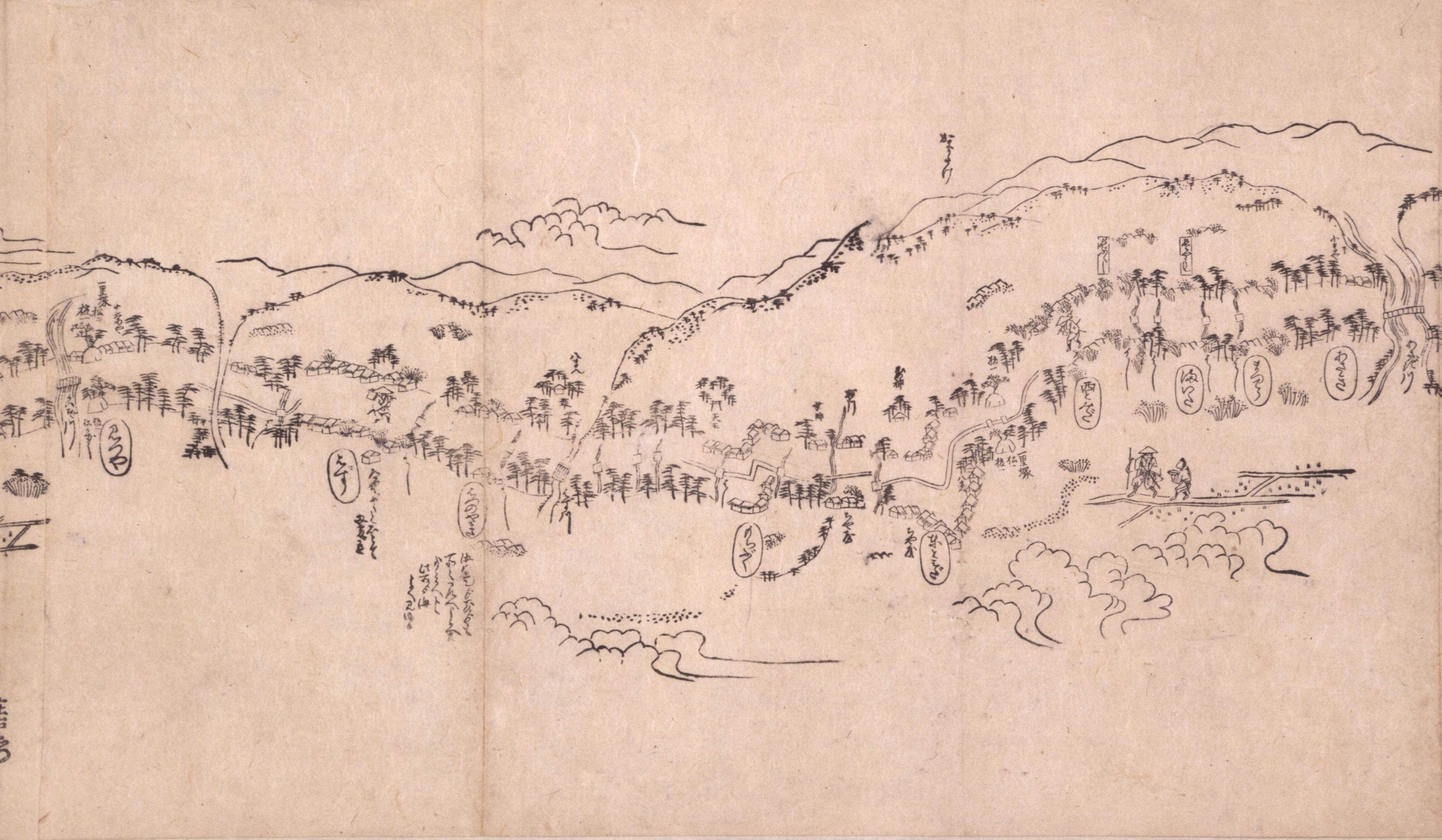 東海道分間之図 六十三