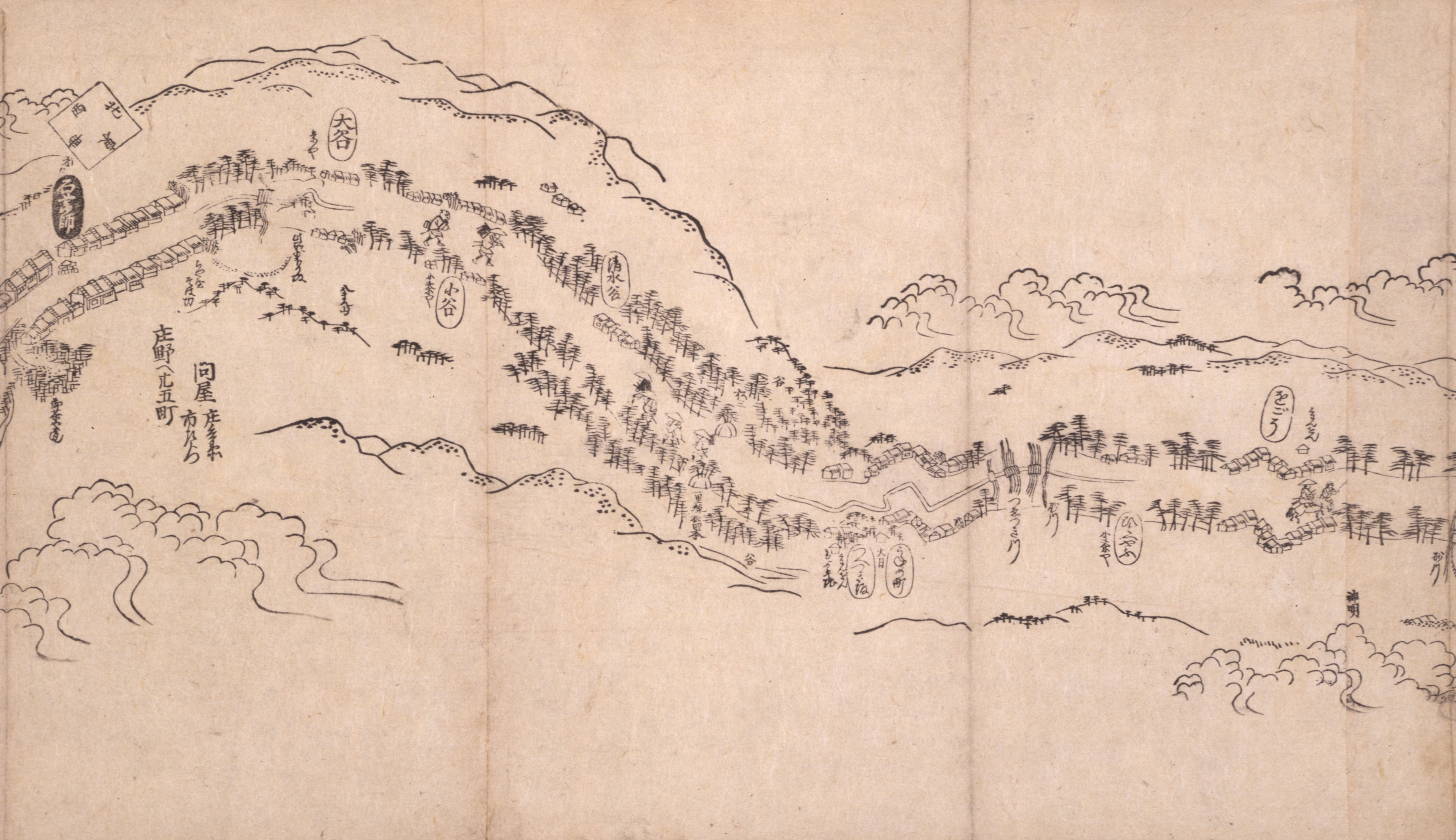 東海道分間之図 六十五