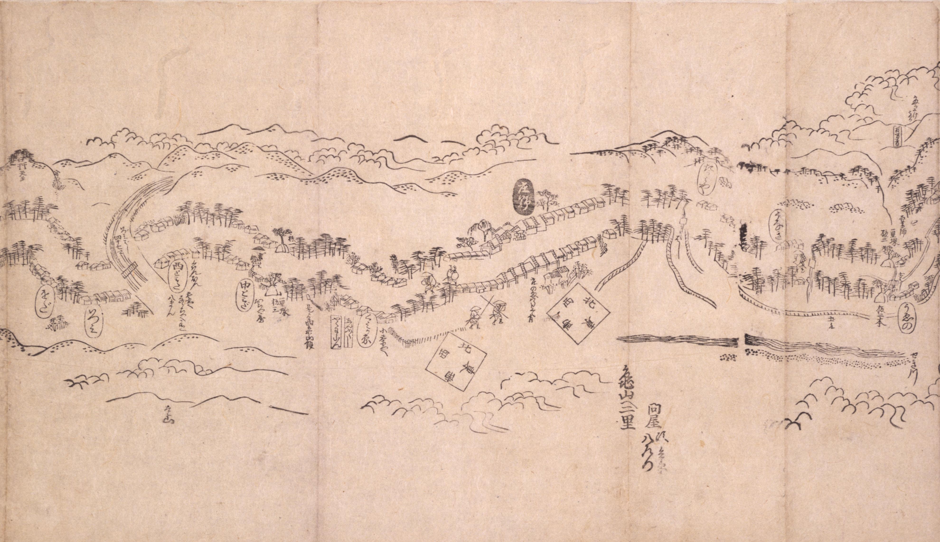 東海道分間之図 六十六