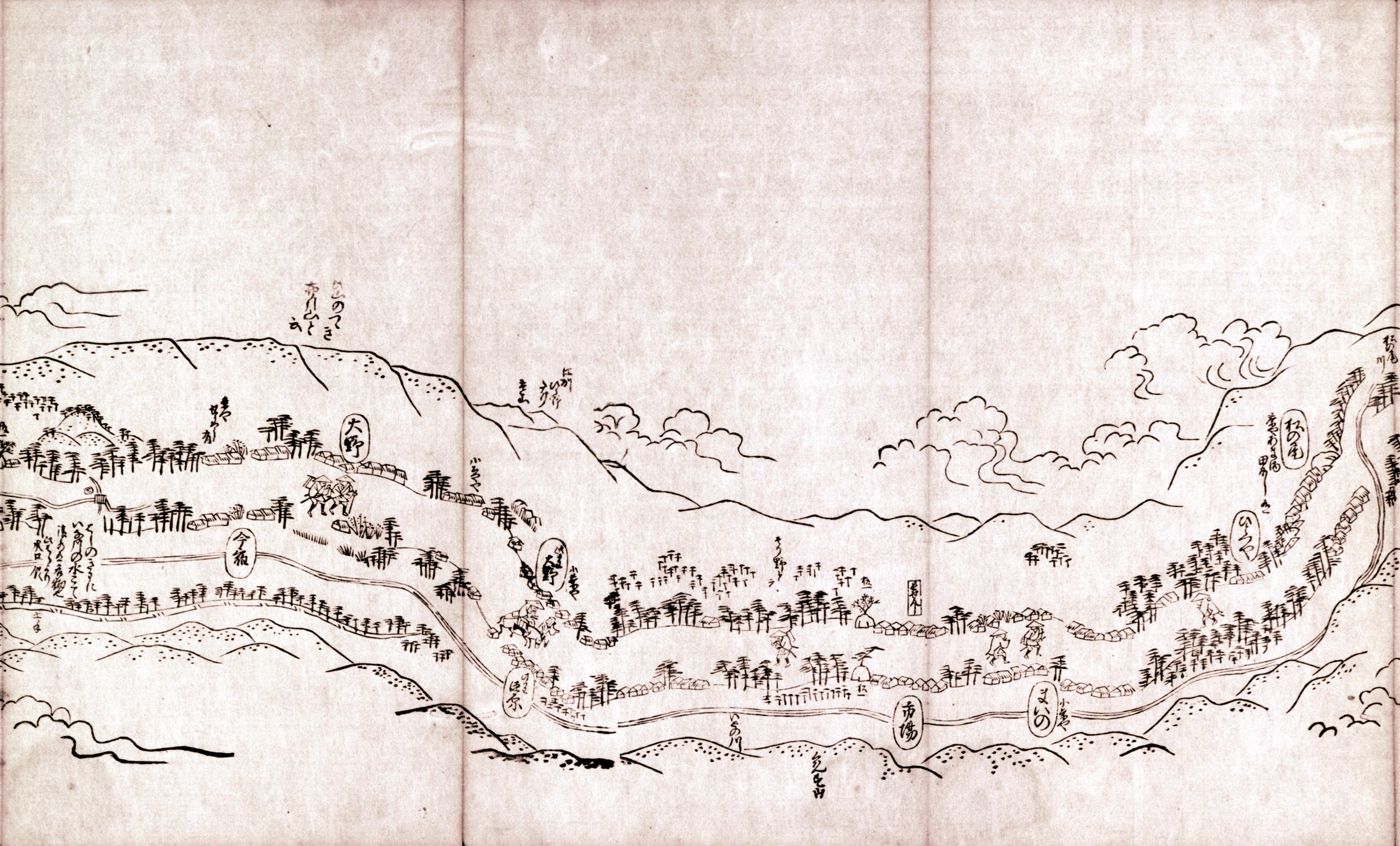 東海道分間之図 七十二