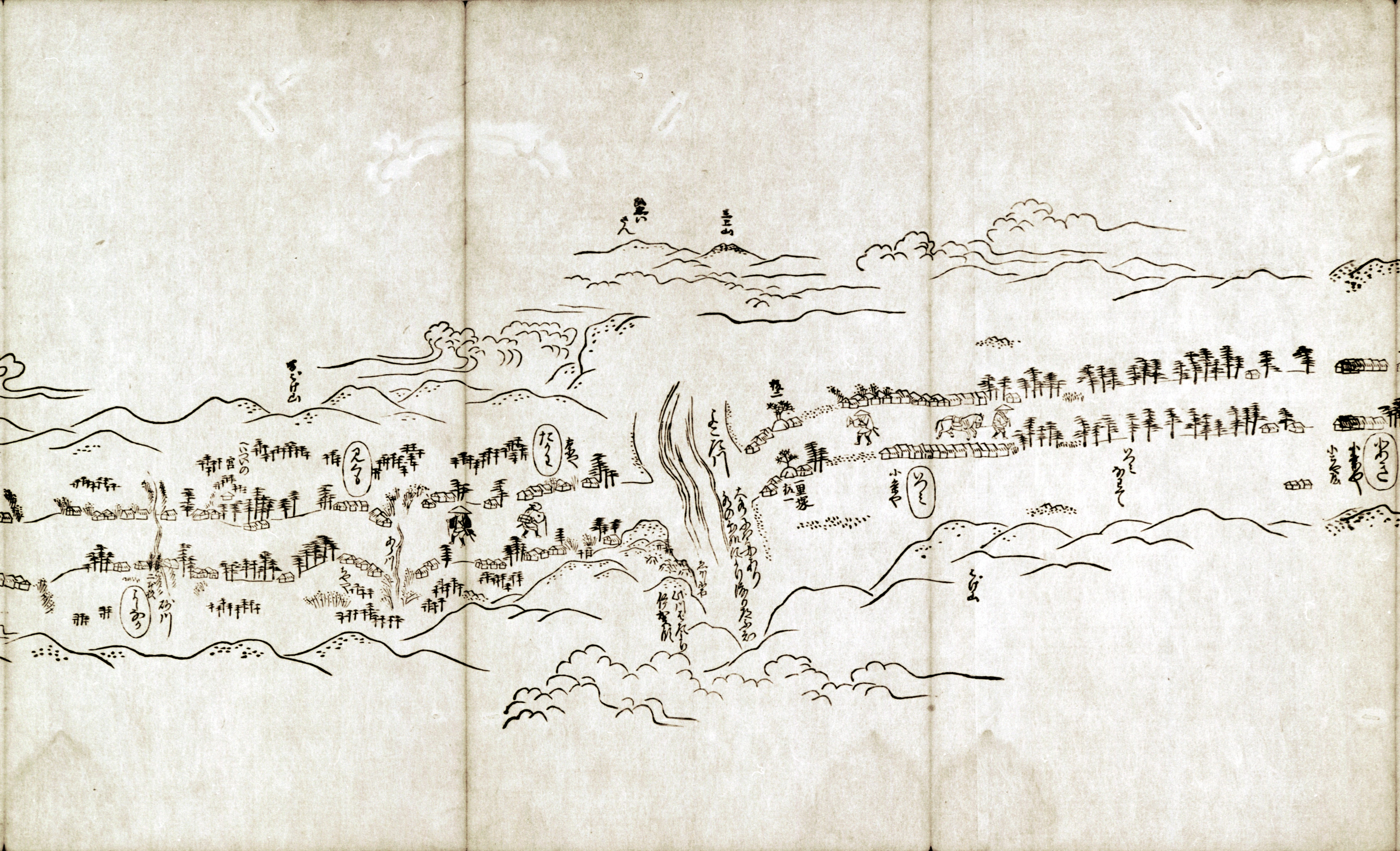 東海道分間之図 七十四