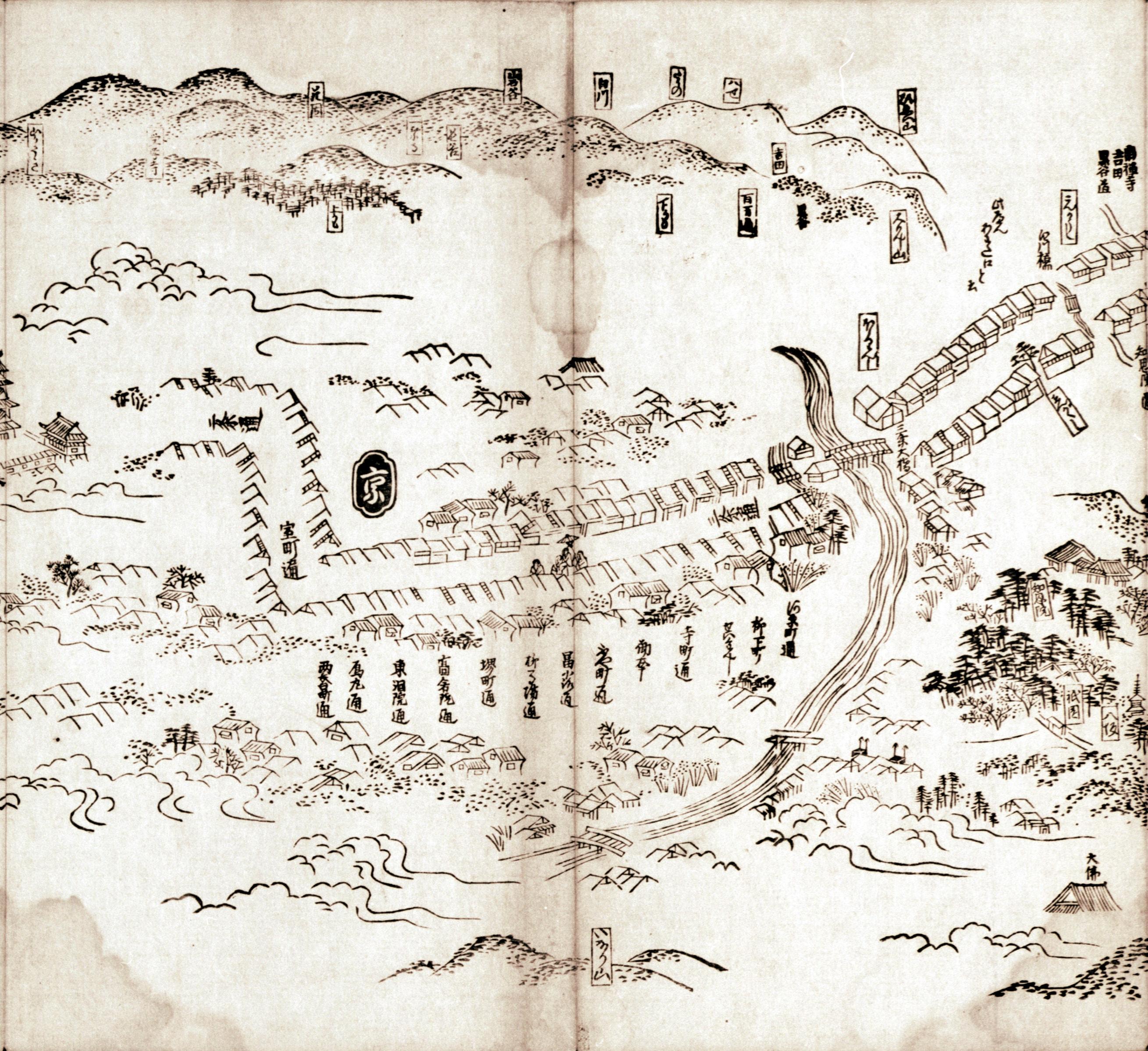 東海道分間之図 八十一